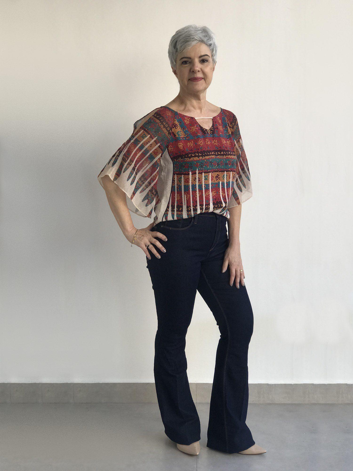 Calça Jeans Flare Amassiada