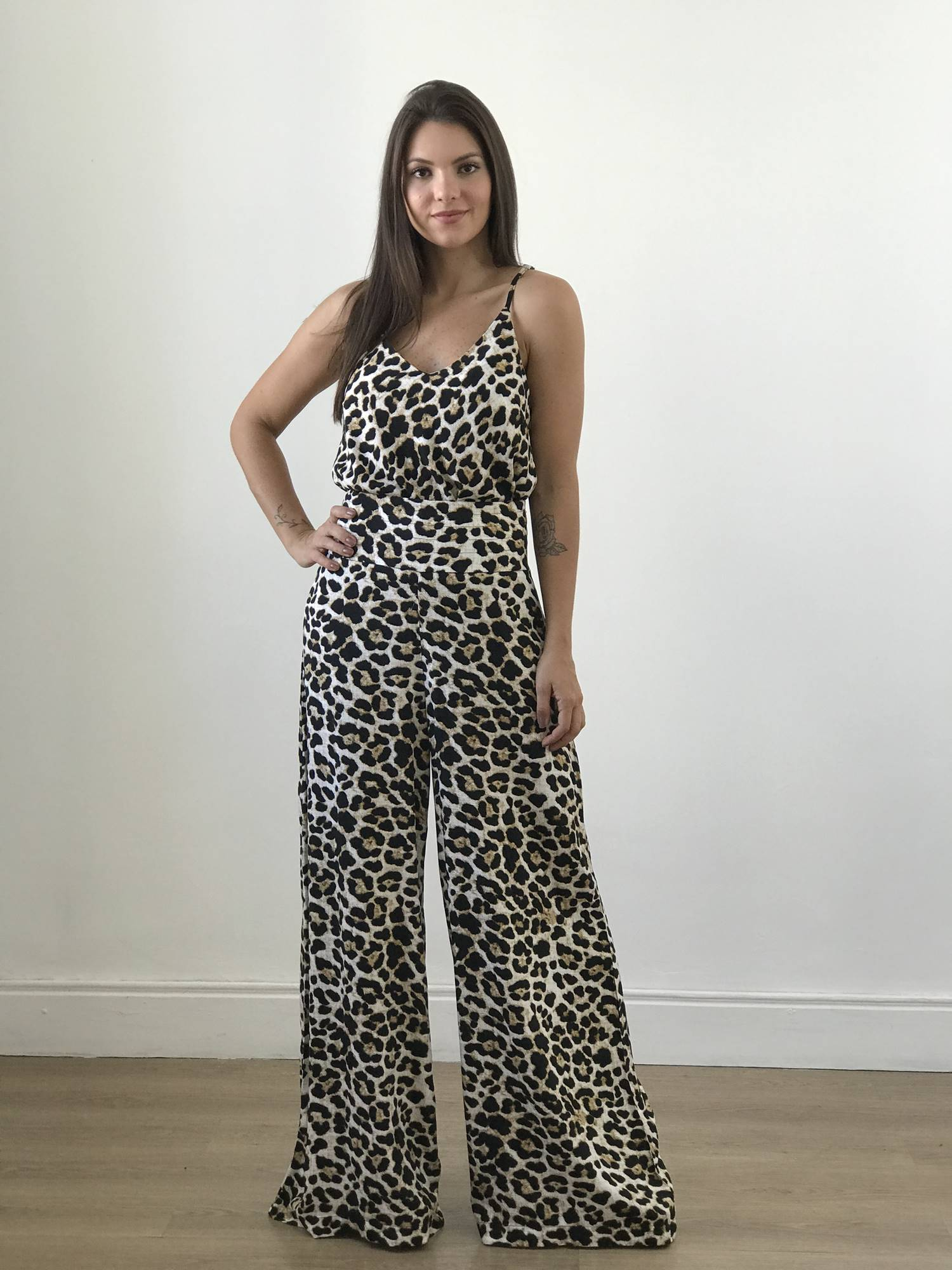 Calça Pantalona Animal Print