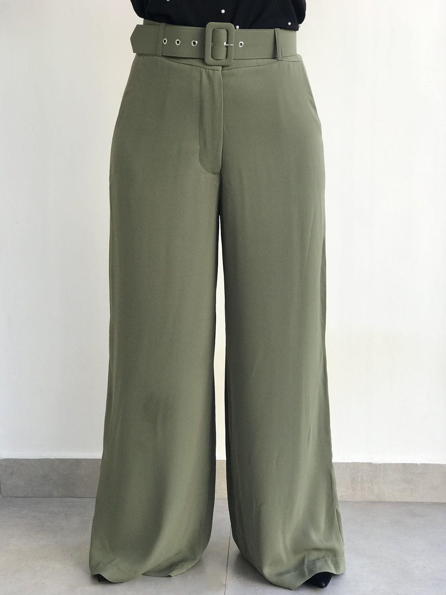 Calça Pantalona com Cinto