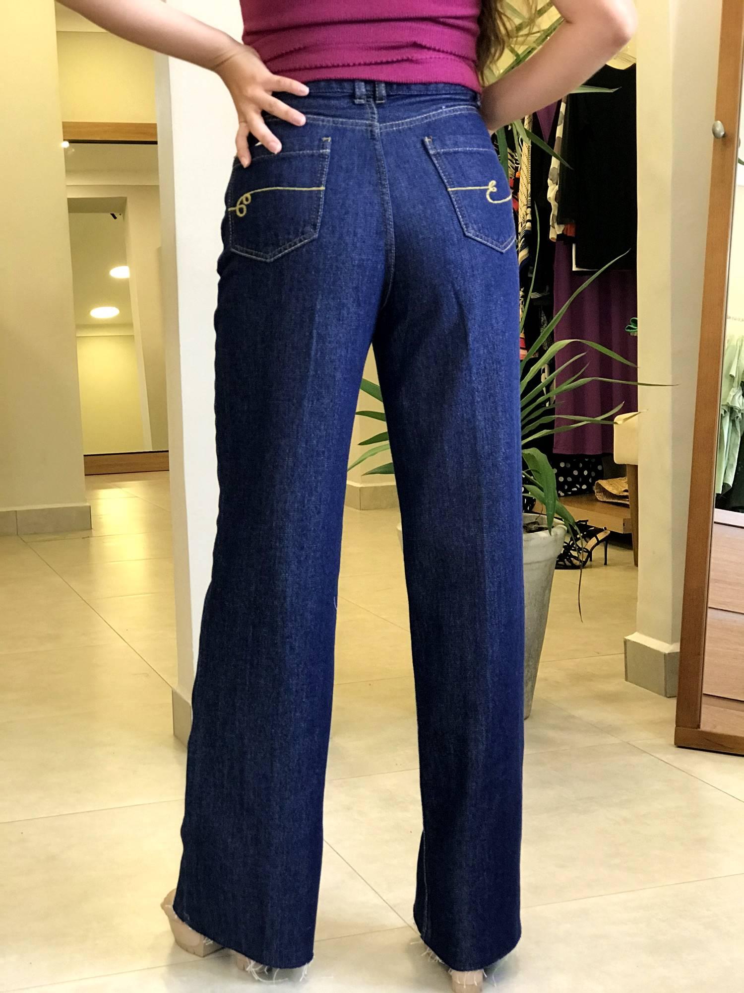 Calça Jeans Wide Leg Amaciada