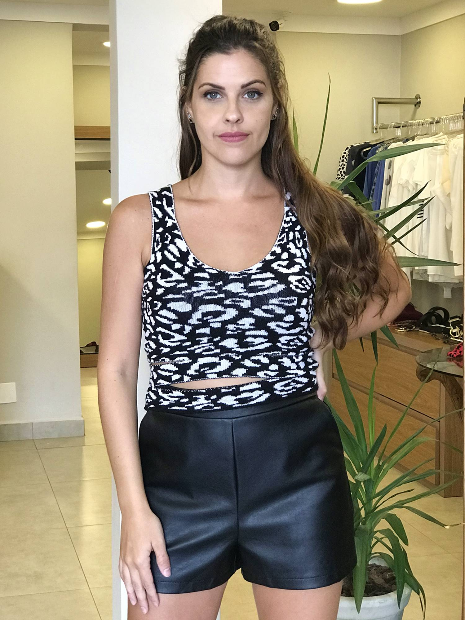 Cropped Tricot Oncinha