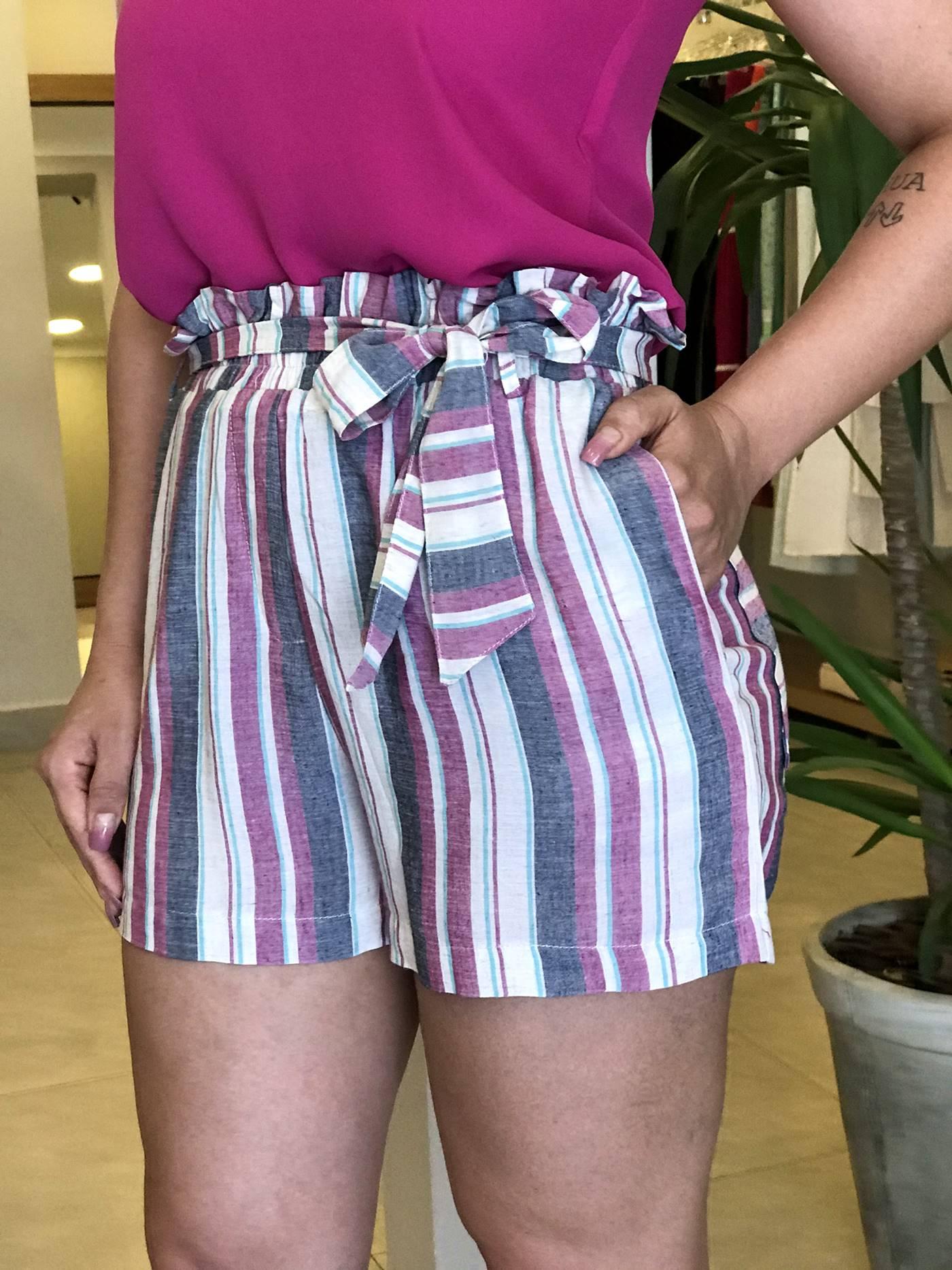 Shorts Amarração Linho