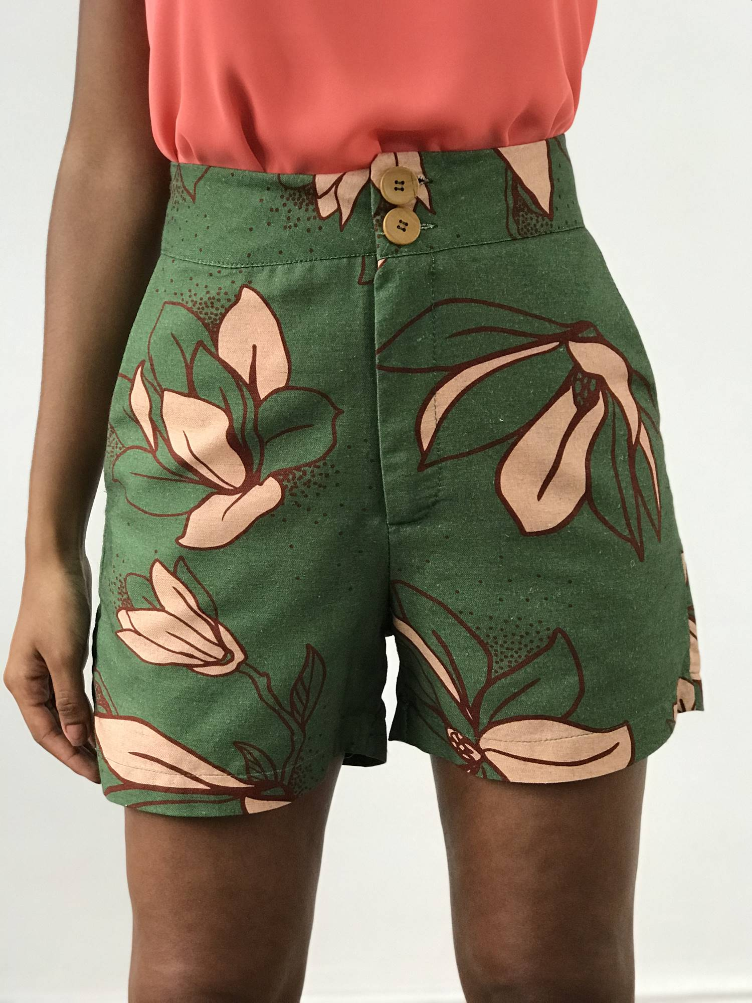 Shorts Linho Estampado