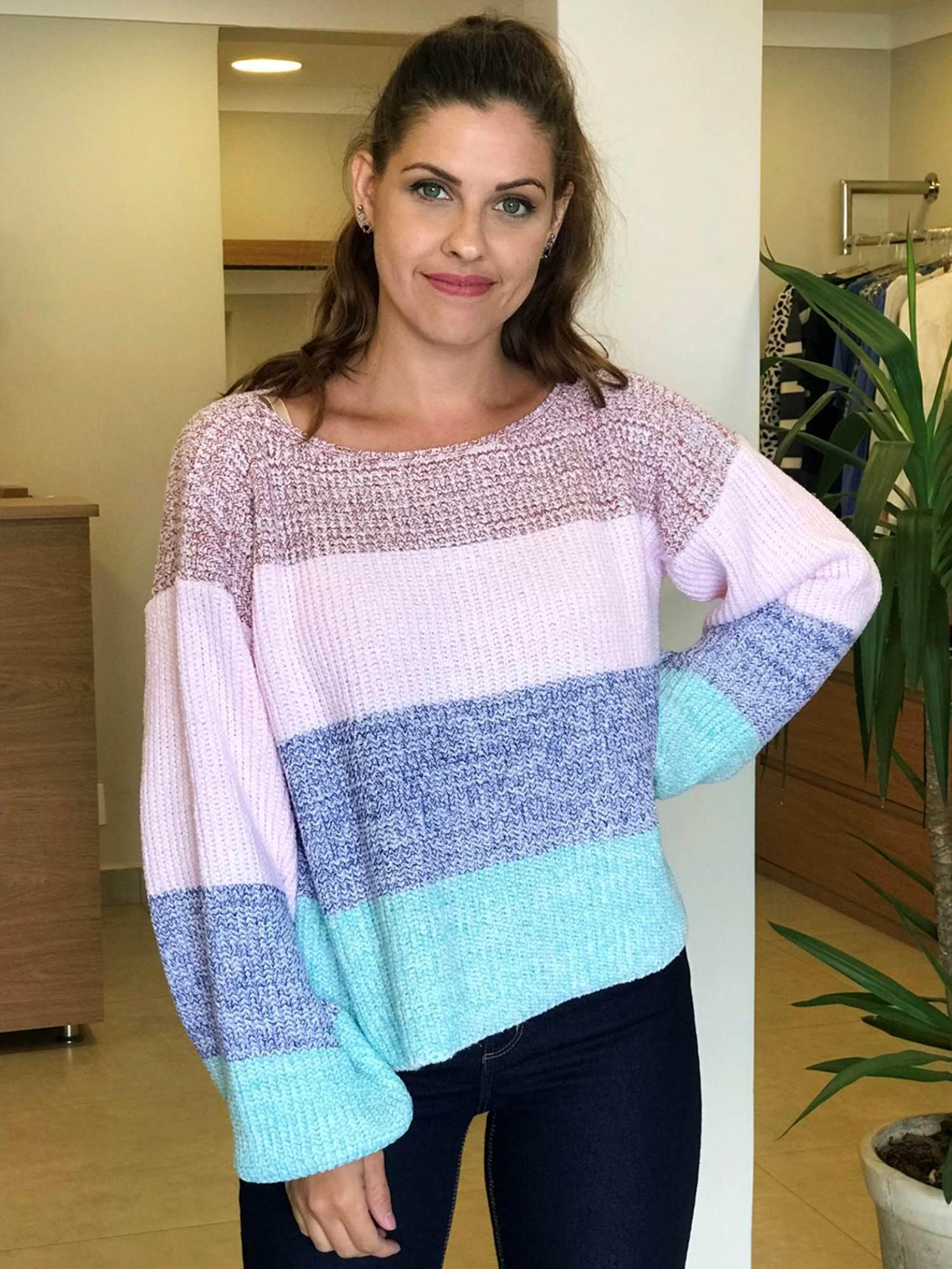 Suéter Tricot Listrado 4 Cores