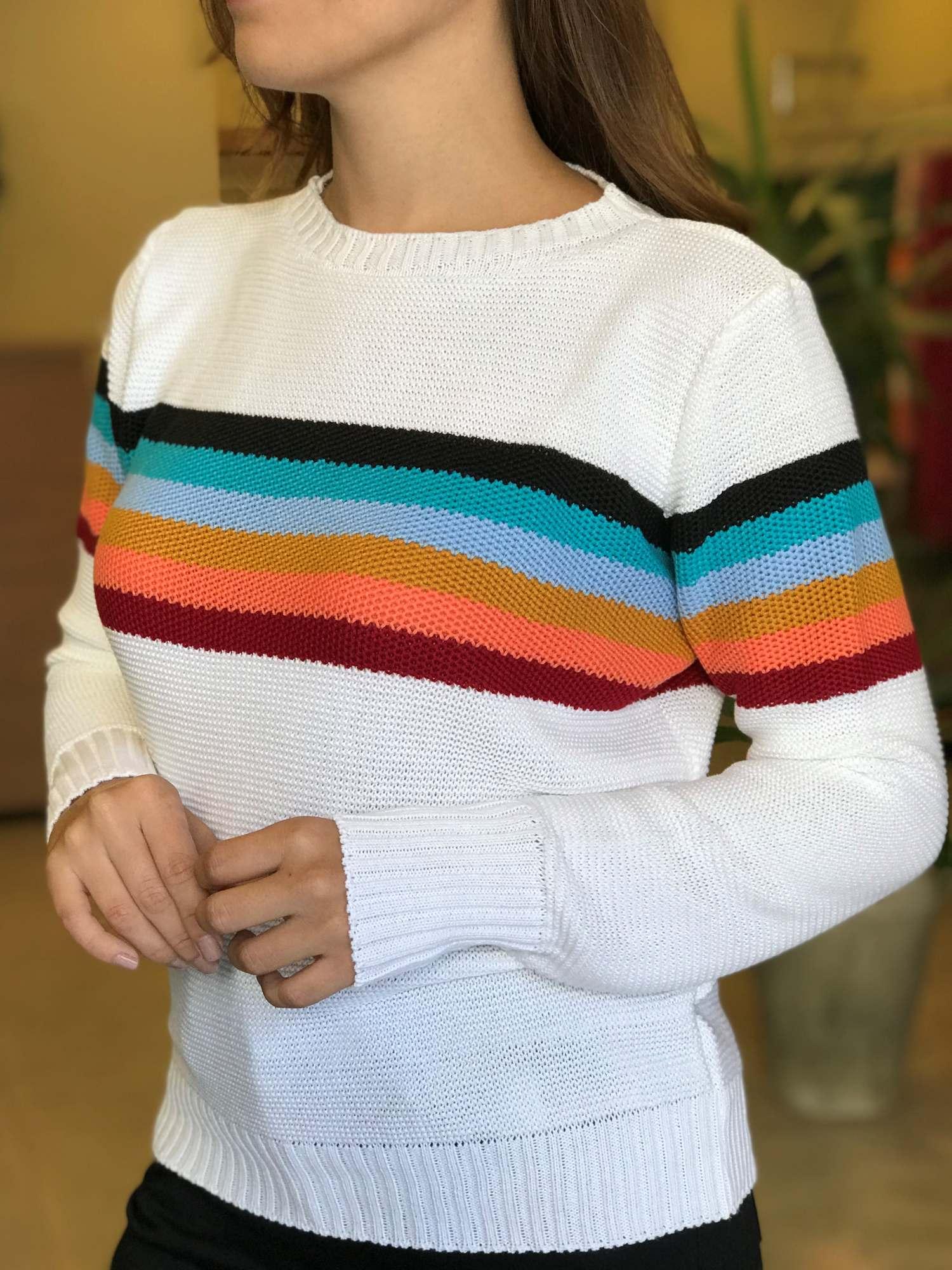 Suéter Tricot 6 Listras