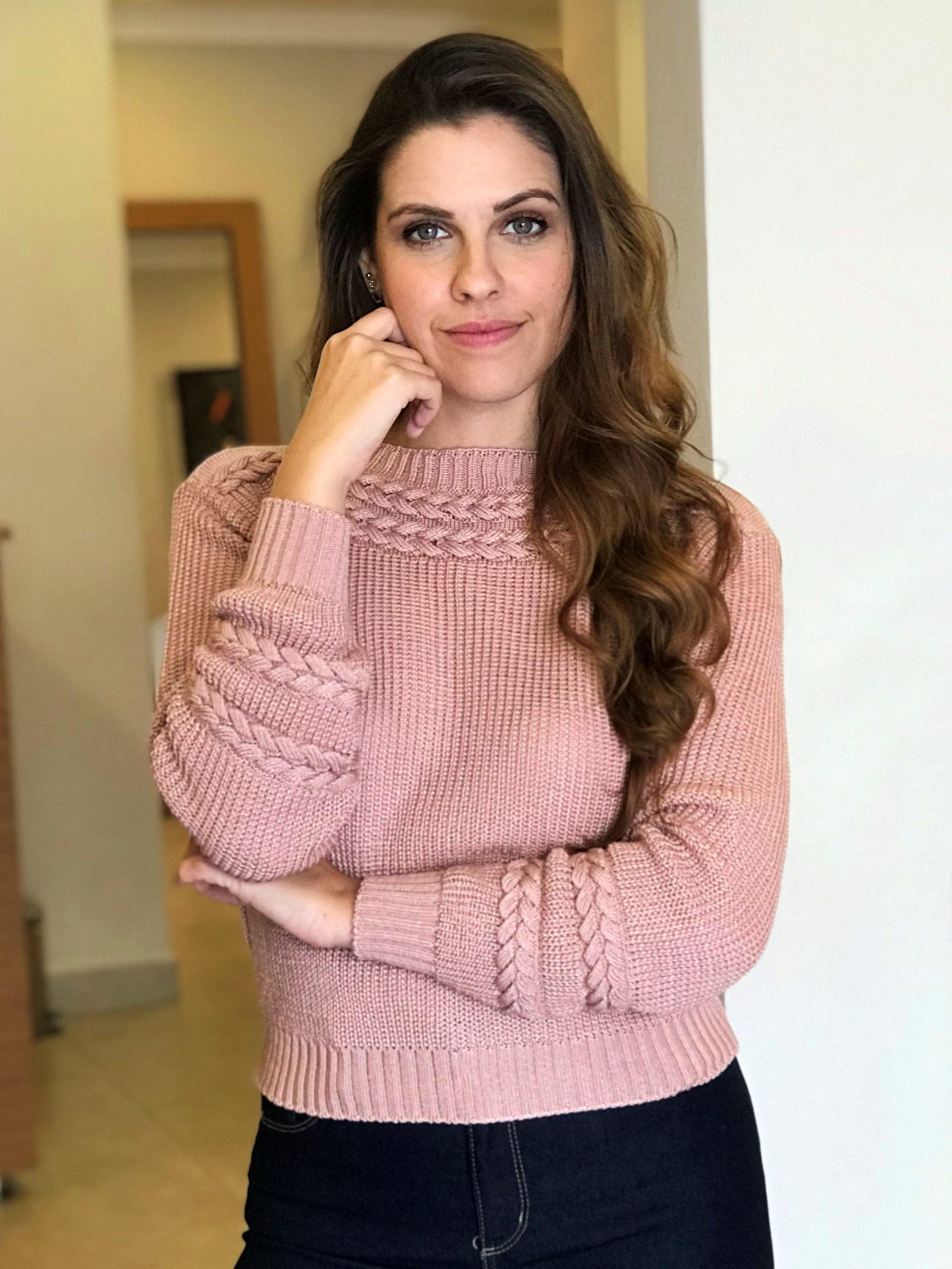 Suéter Tricot Detalhes Tranças