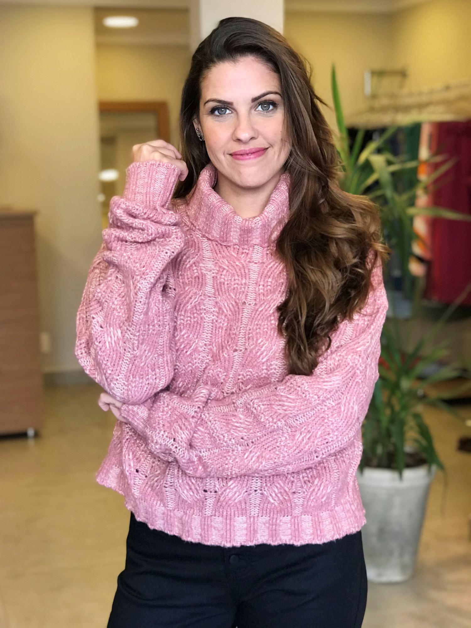 Suéter Tricot Gola Alta
