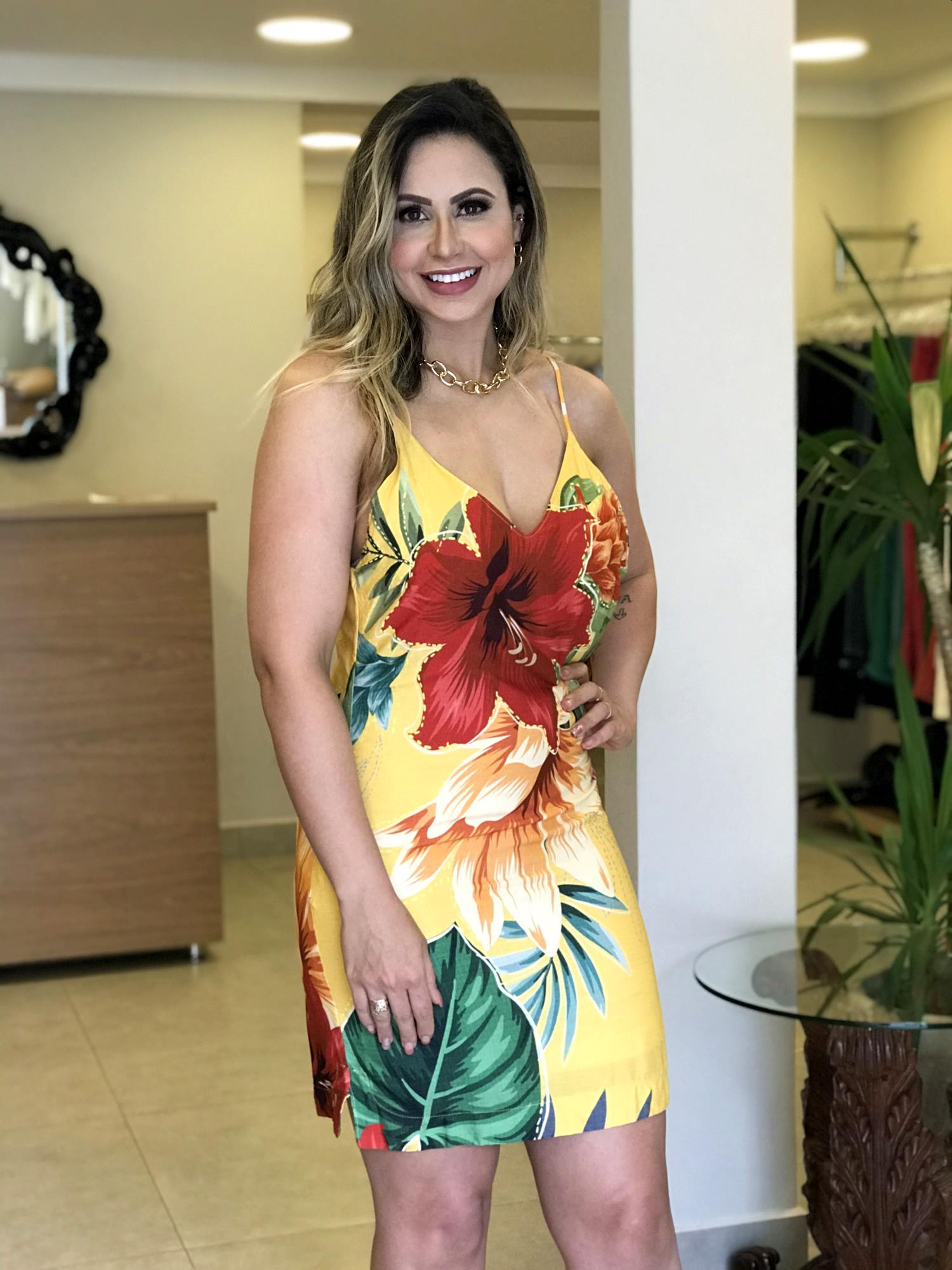 Vestido Estampado Florido