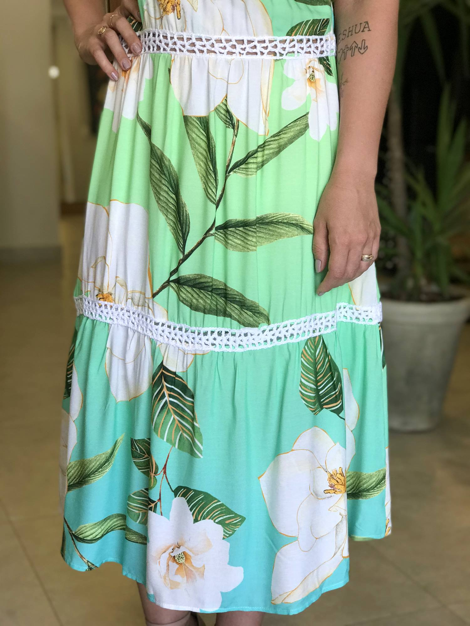 Vestido Midi Florido