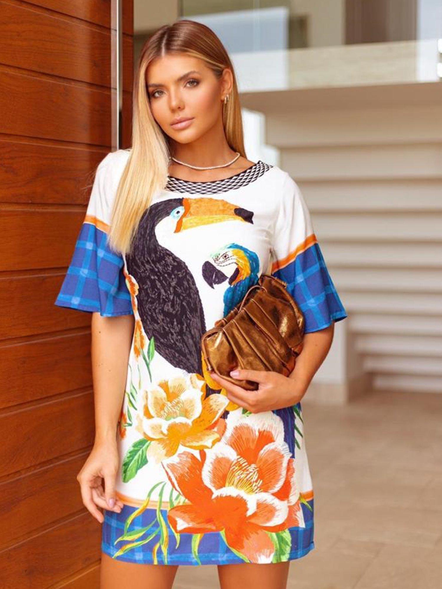 Vestido Tucano/Arara