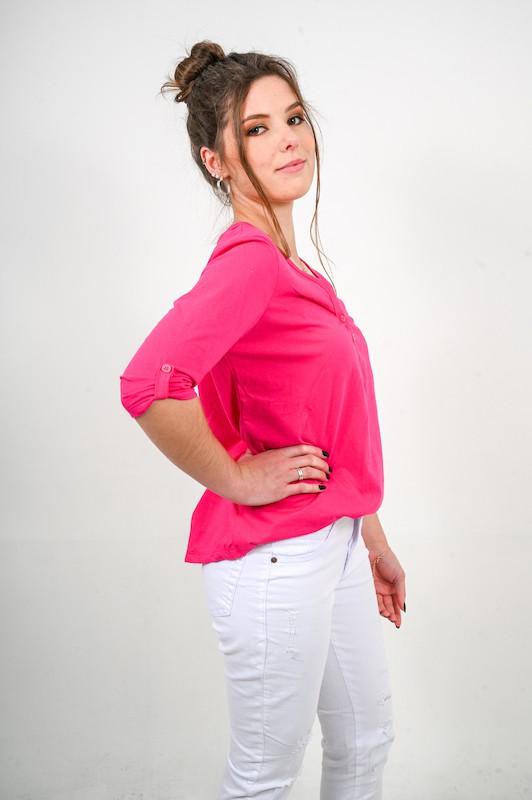 Blusa Dois Botões Pink