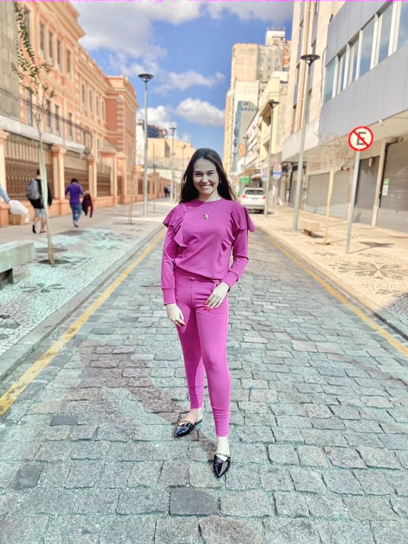 Conjunto comfy Pink com Babado