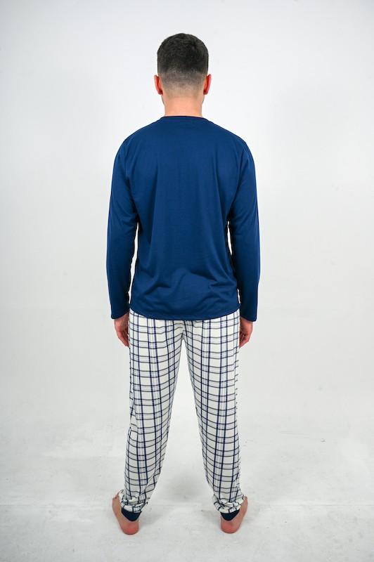Pijama Azul Marinho com Xadrez