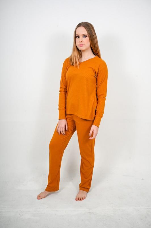 Pijama Canelado Caramelo