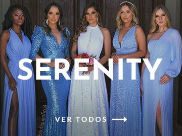 vestidos tons de azul e serenity