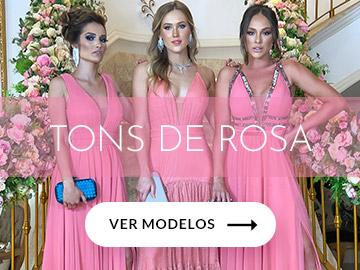 vestidos rosa e rose