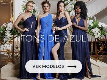 vestidos tons de azul