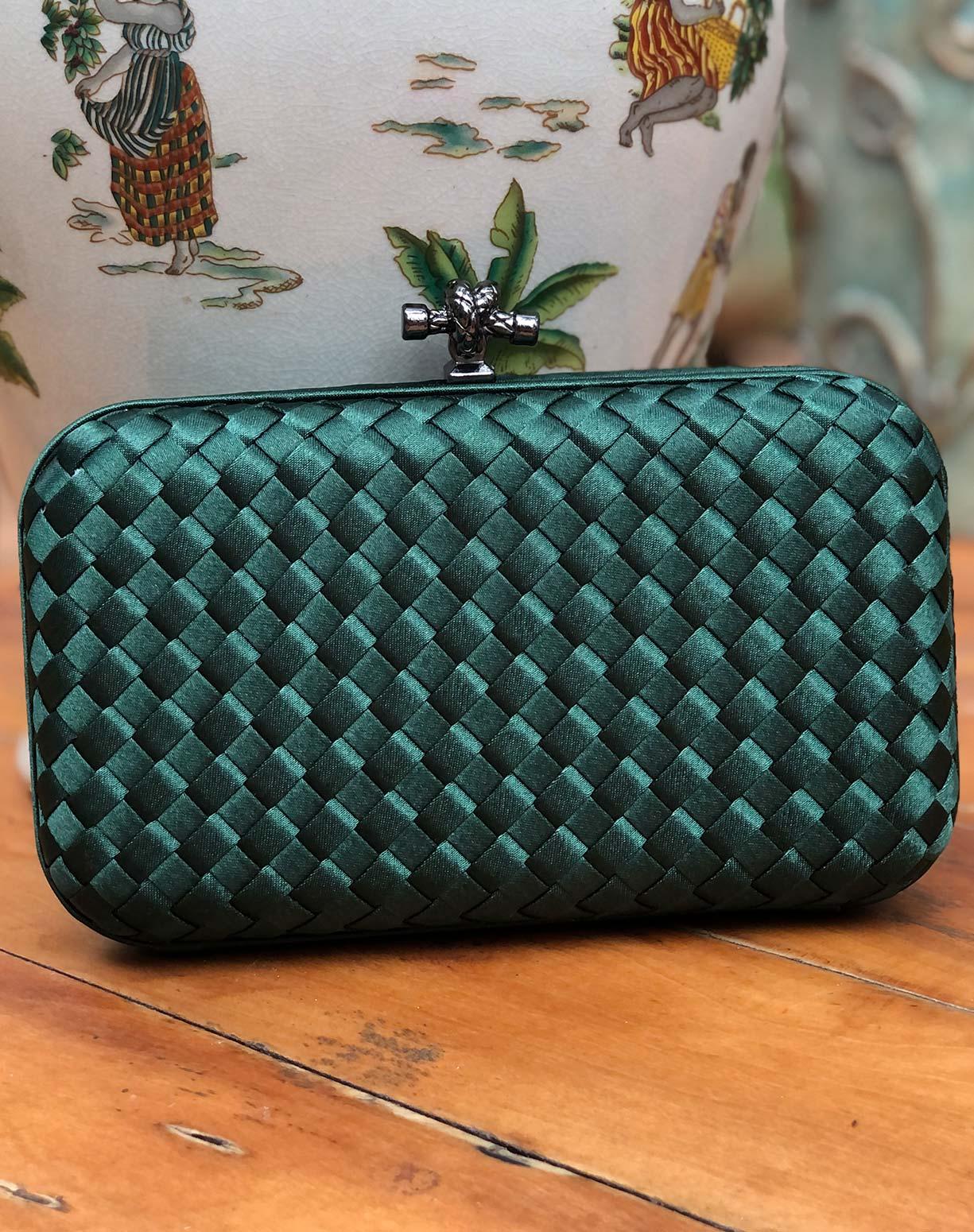 Clutch Bottega Verde Esmeralda