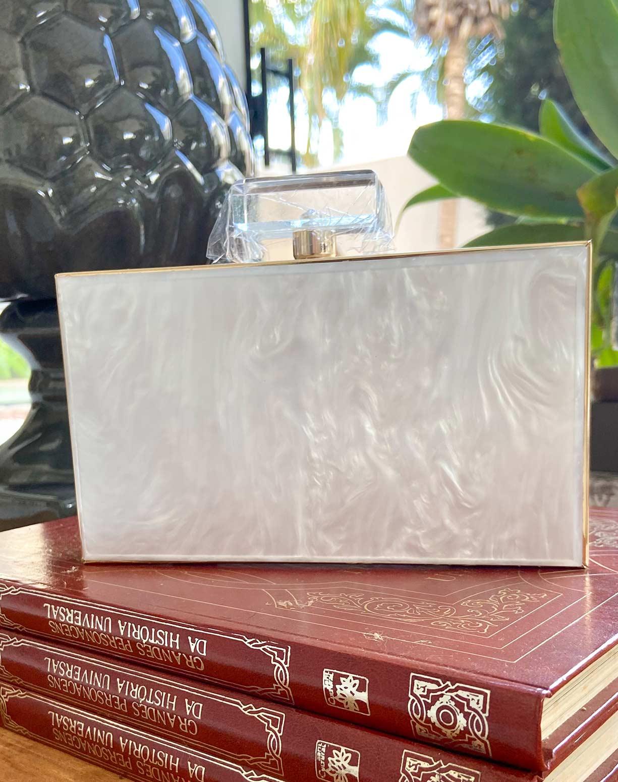 Clutch Madrepérola Branca