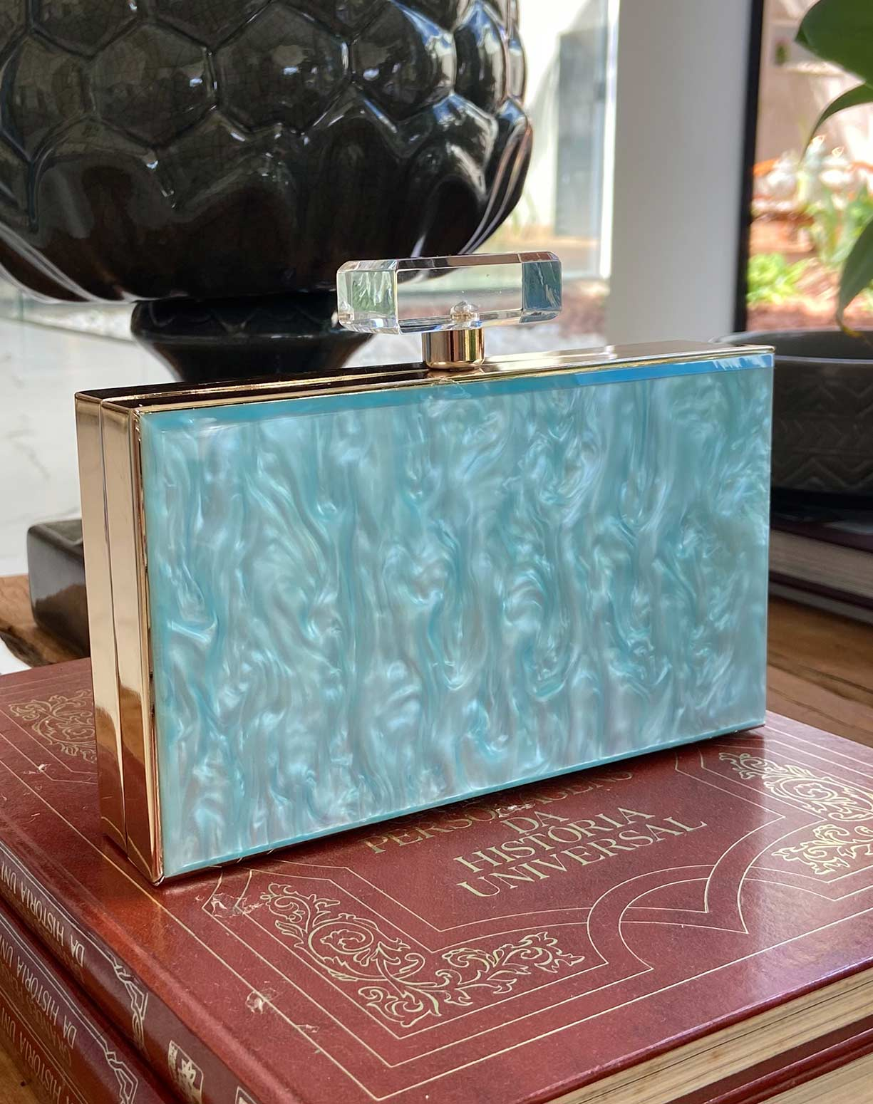 Clutch Madrepérola Tiffany