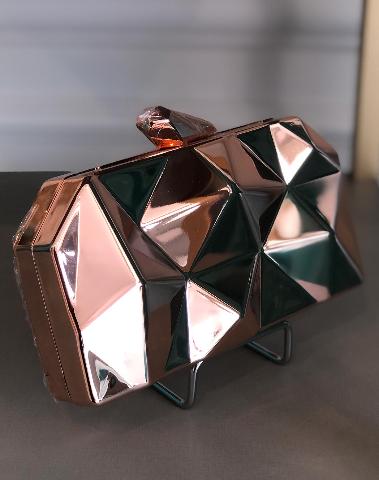 Clutch Rose Gold Geométrica