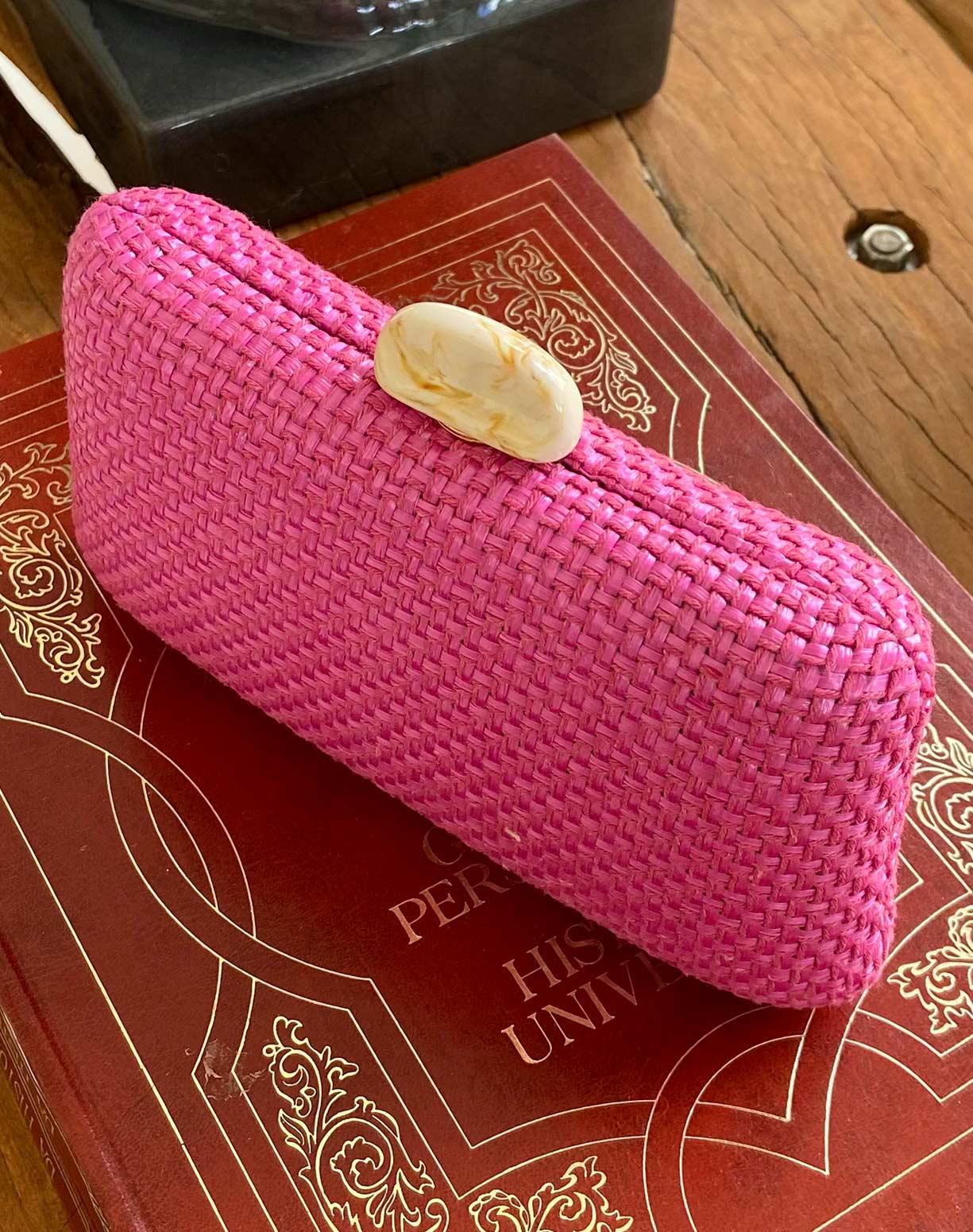 Clutch Tresse em Pink