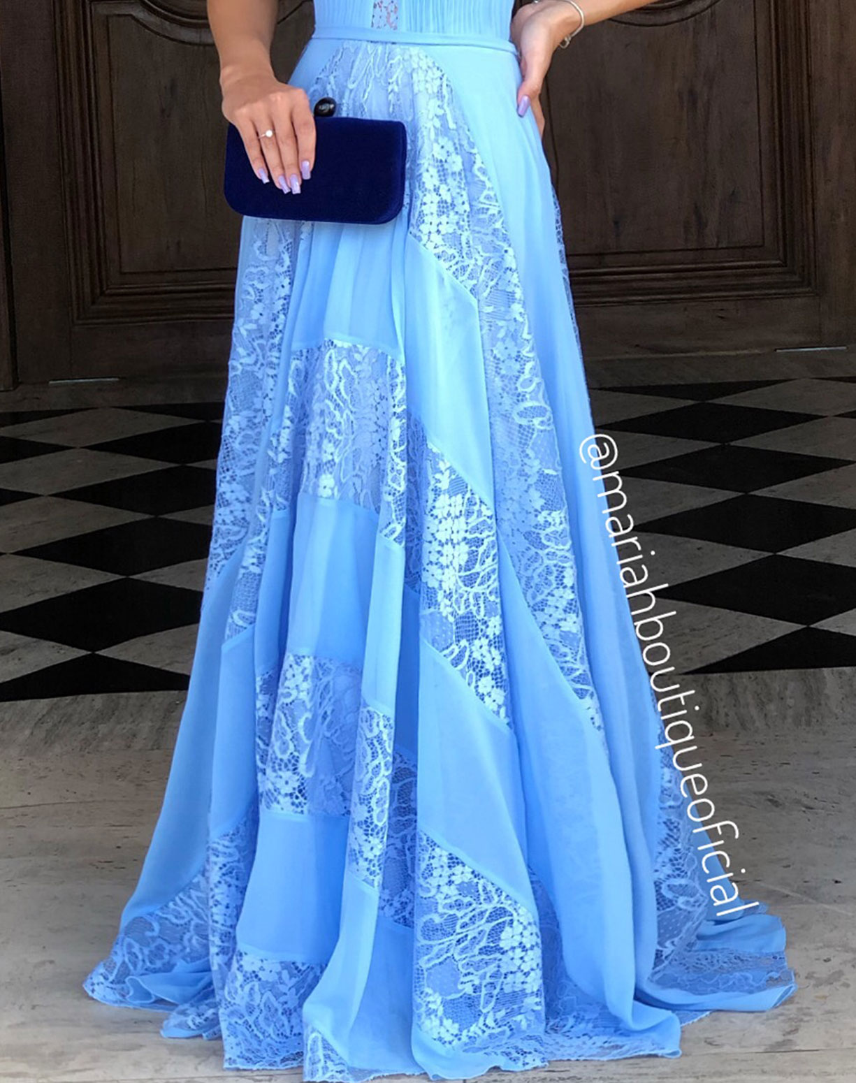 Vestido Azul Serenity Frente Única