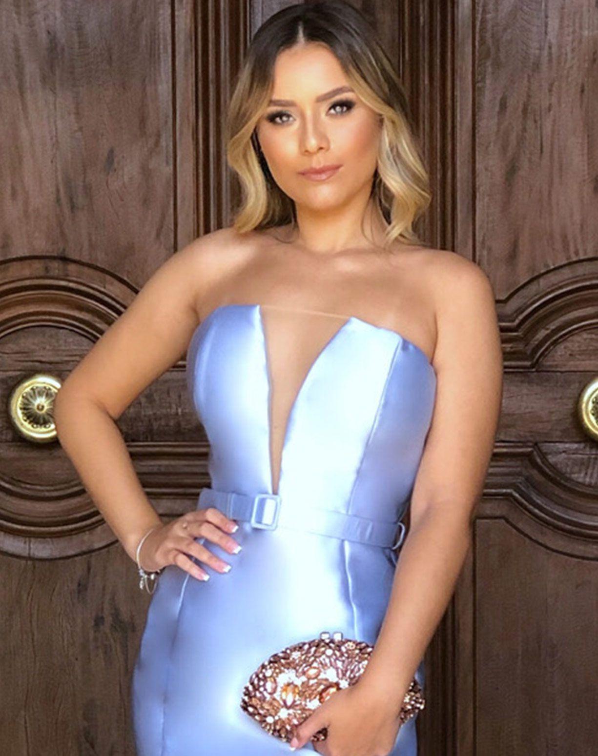 Vestido azul Serenity Tomara Que Caia em Zibeline