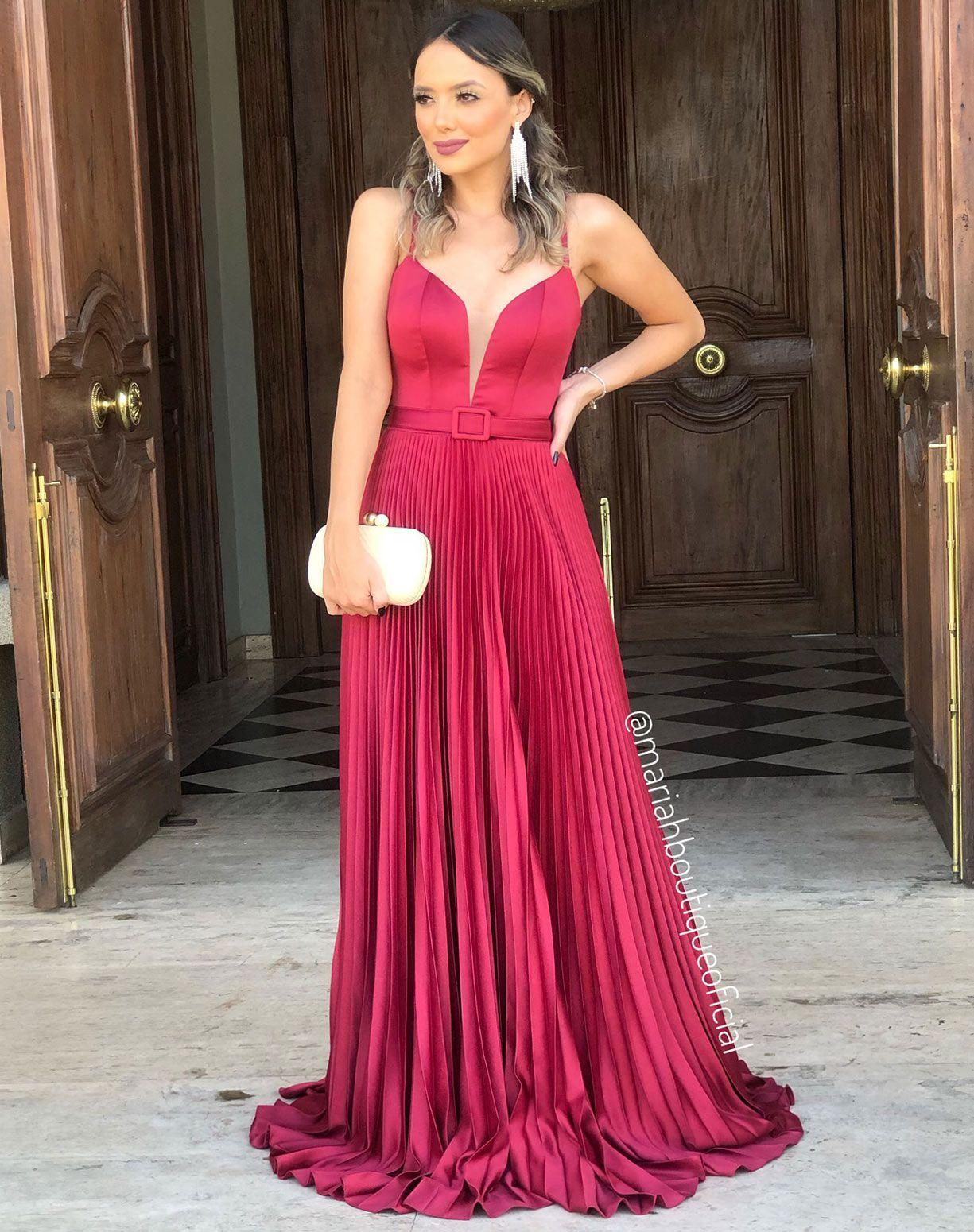 Vestido com Saia Plissada
