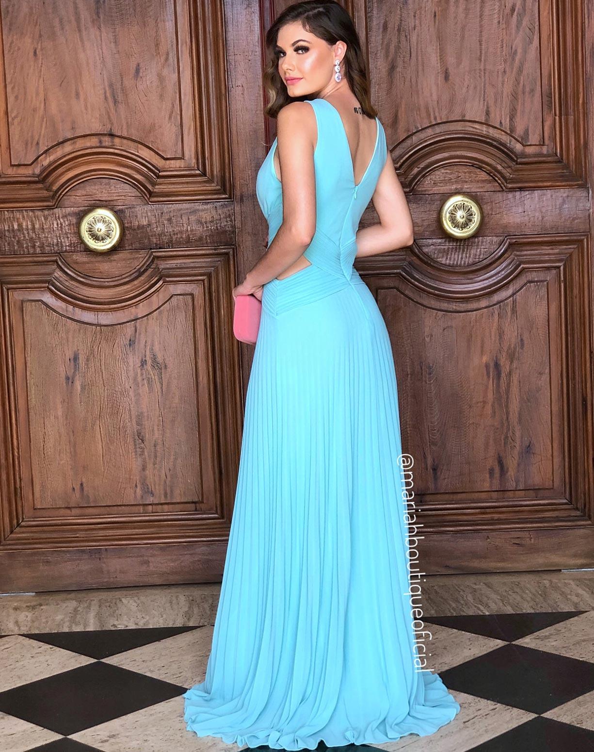 Vestido Tiffany Com Saia Plissada