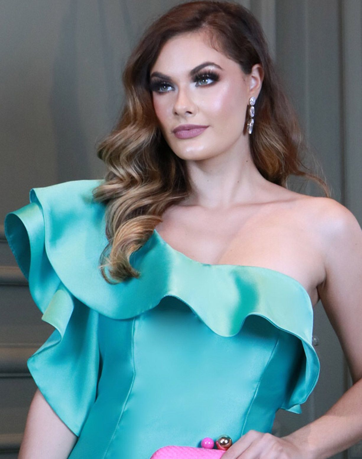Vestido Tiffany de Um Ombro Só em Zibeline