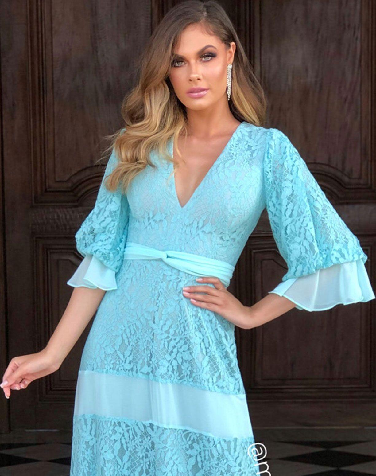 Vestido Tiffany em Renda e Musseline