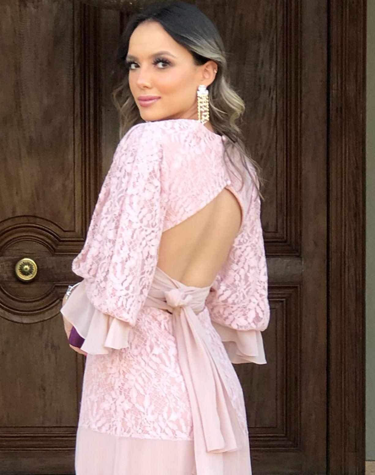 Vestido Rose em Renda e Musseline