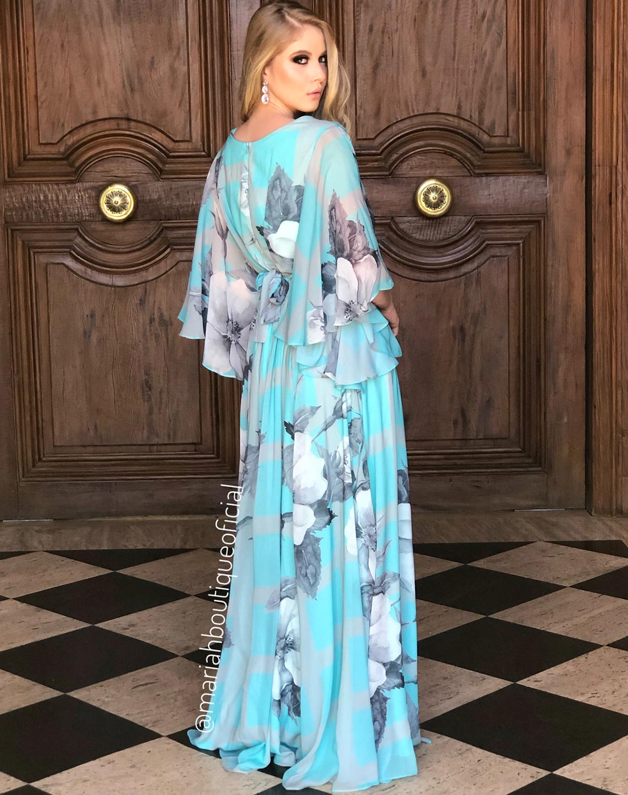 Vestido Tiffany em Voal Floral