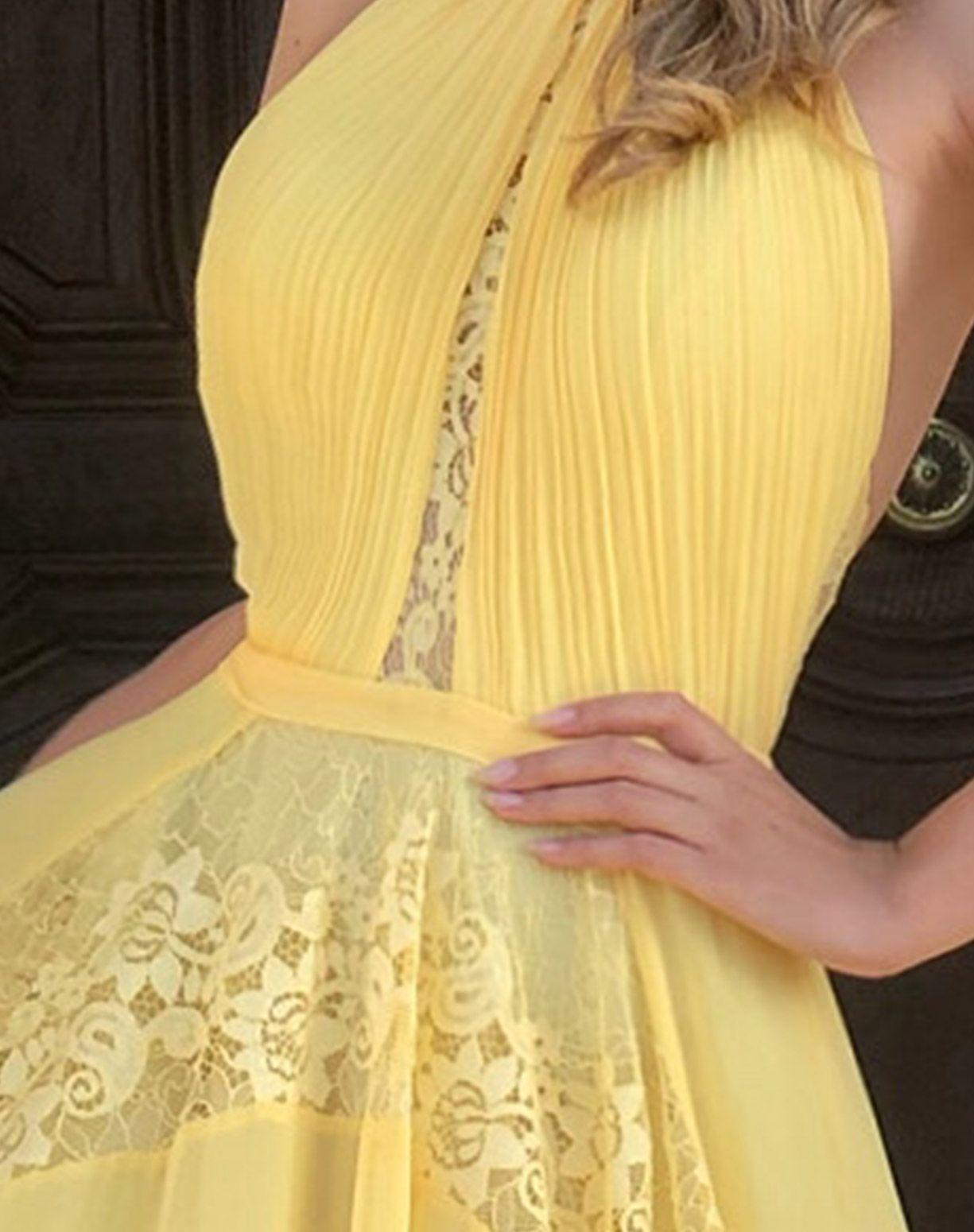 Vestido Amarelo Frente Única