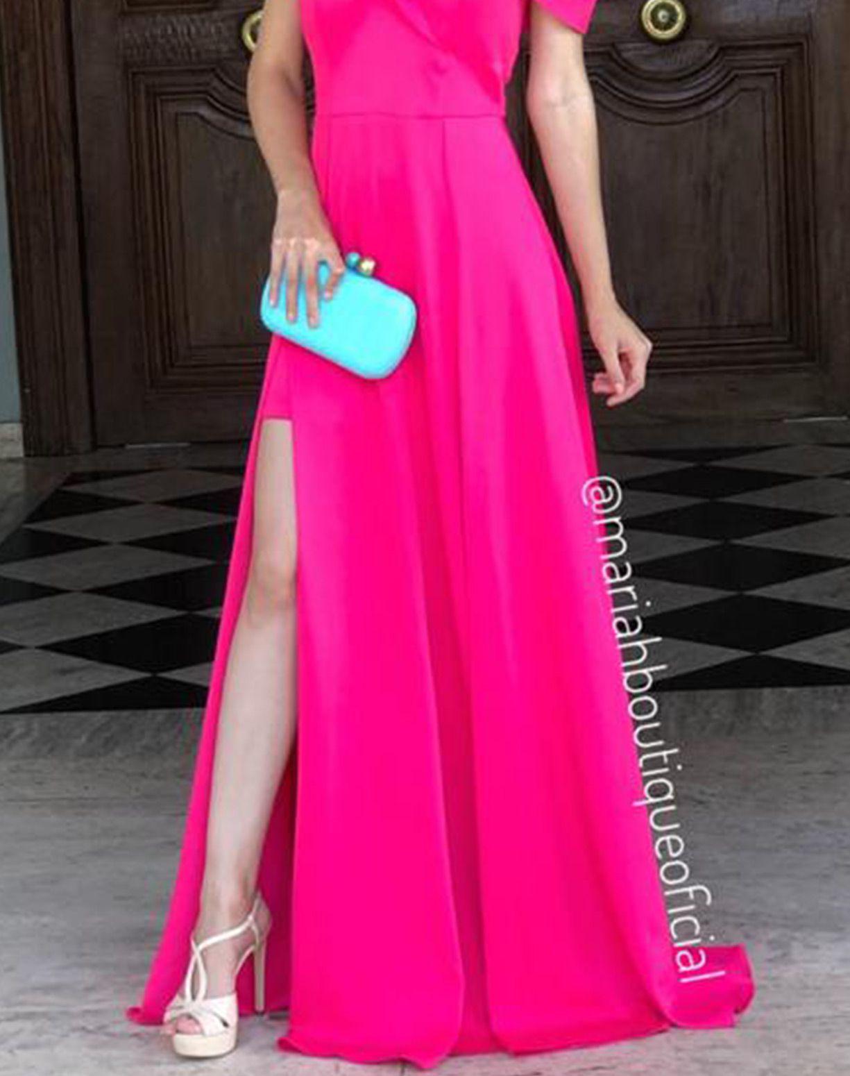 Vestido Rosa Pink Ombro a Ombro