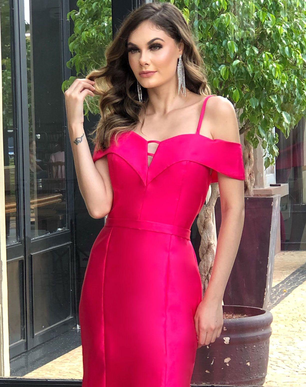 Vestido Pink em Zibeline