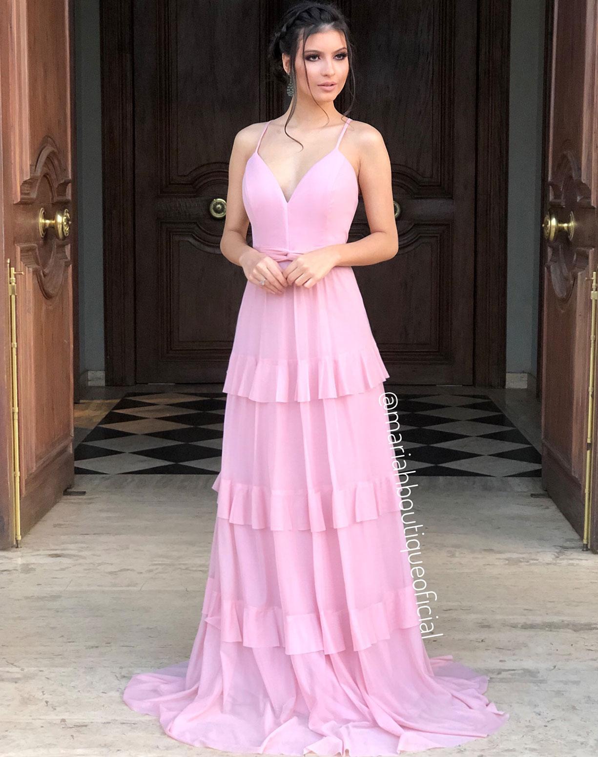 Vestido Rose em Camadas de Tule