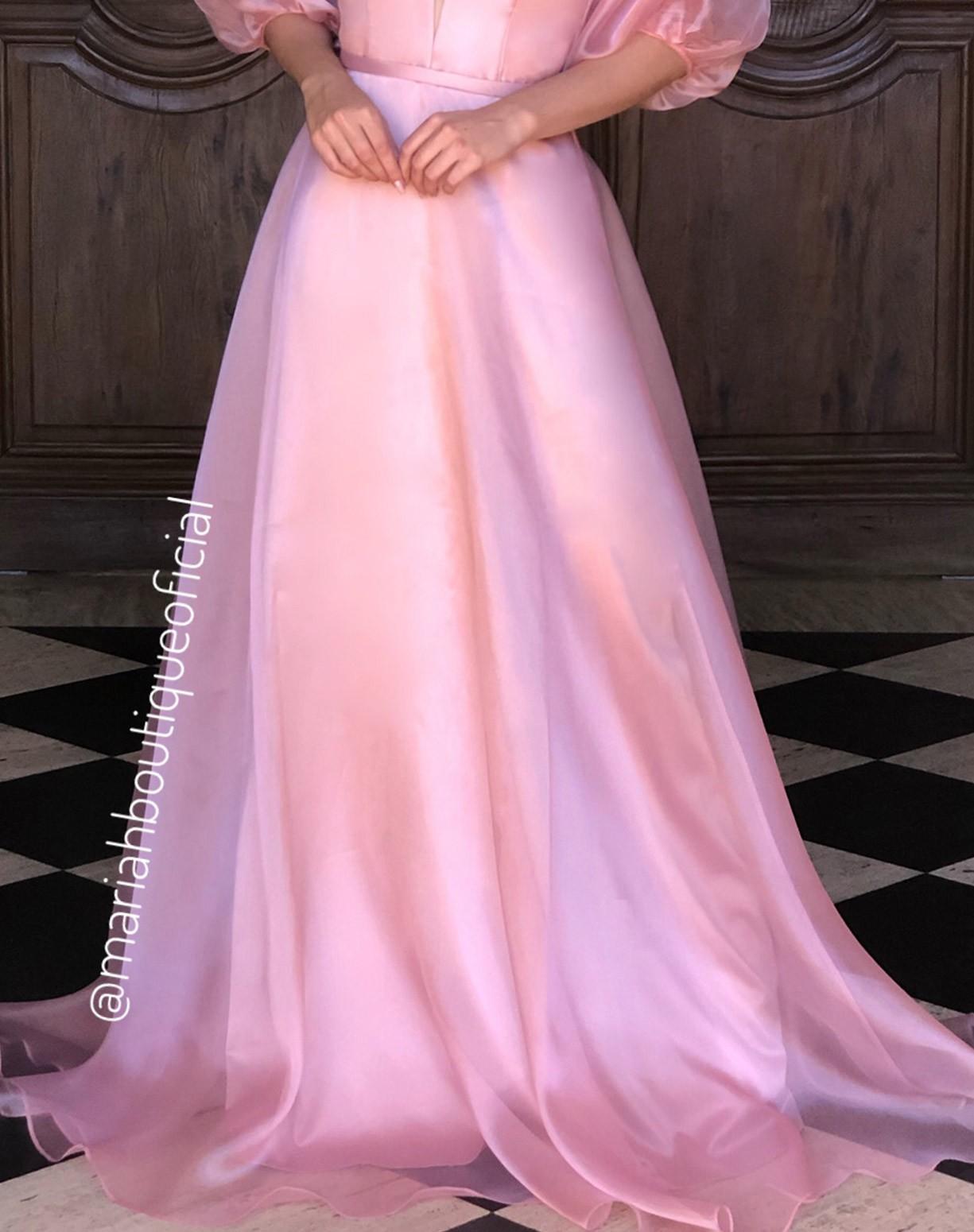 Vestido Rosê em Organza
