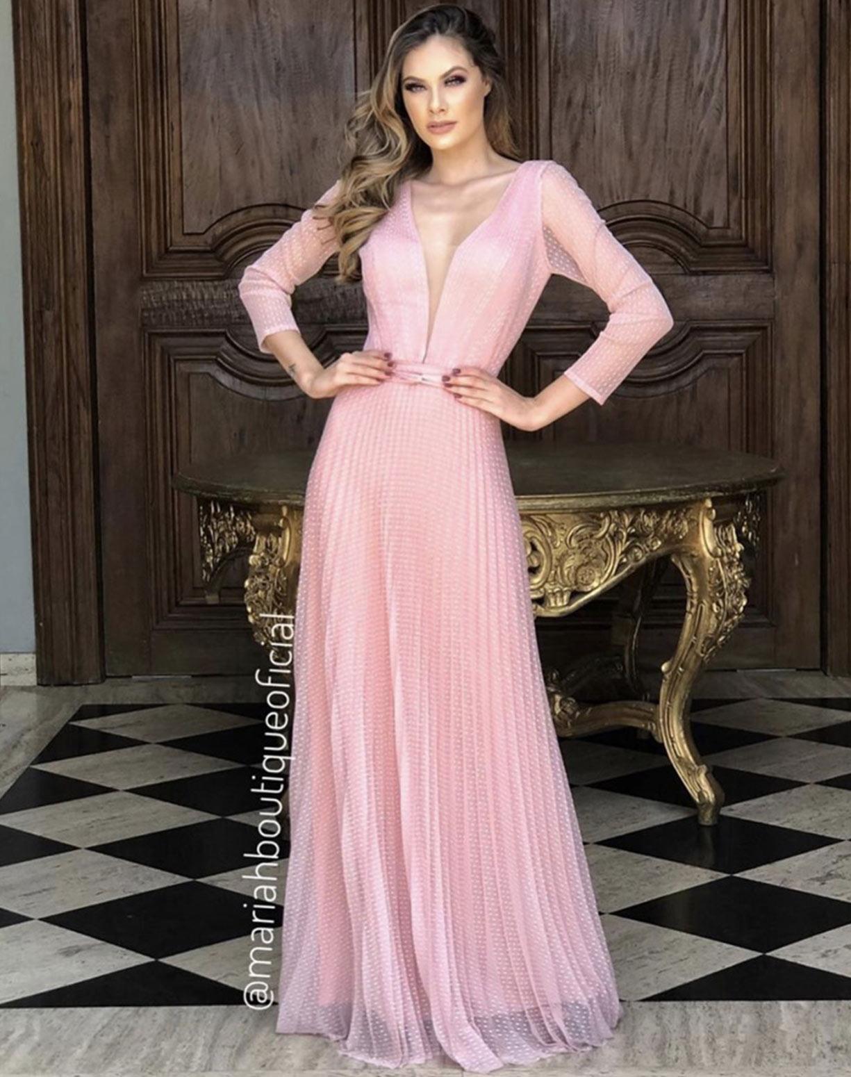 Vestido Rose em Tule Texturizado