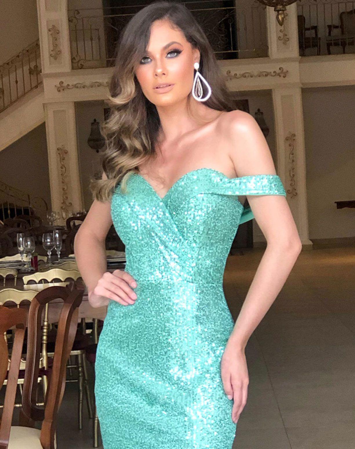 Vestido Sereia em Paetê