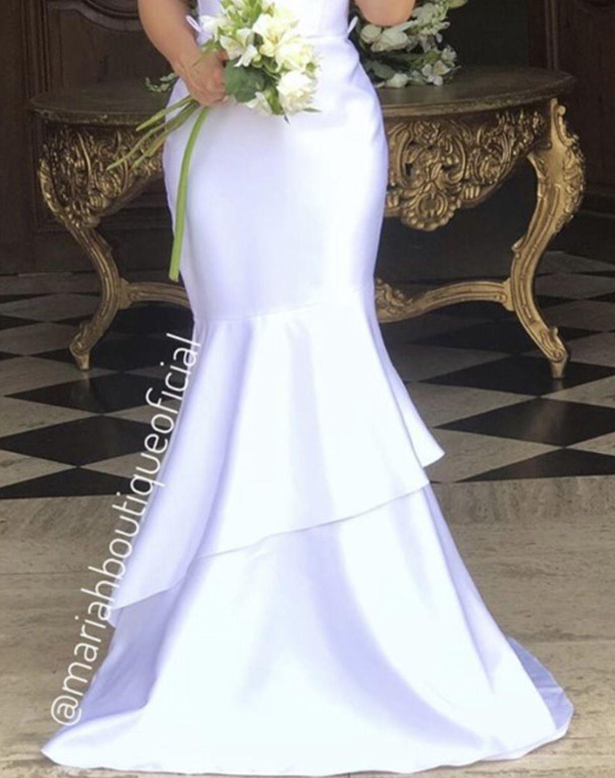 Vestido Sereia em Zibeline