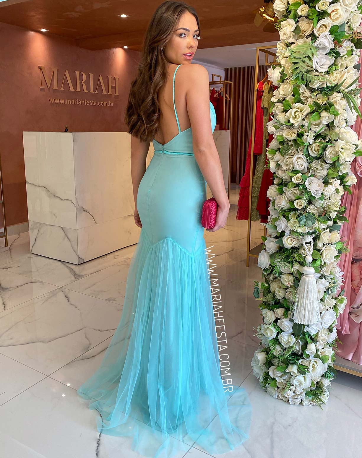 Vestido Sereia Tiffany Em Tule