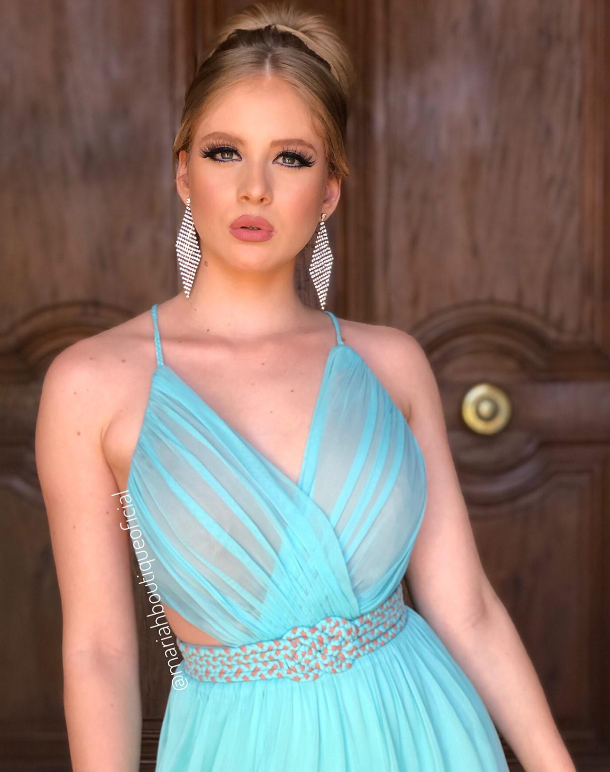 Vestido Tiffany em Tule com Cinto