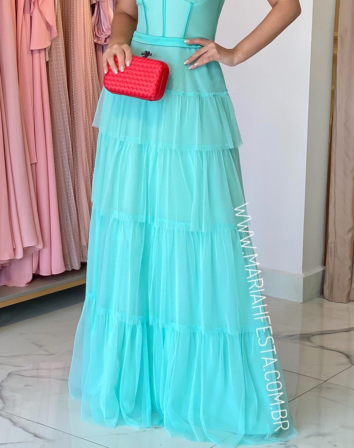 Vestido Tiffany em Tule com Corpete