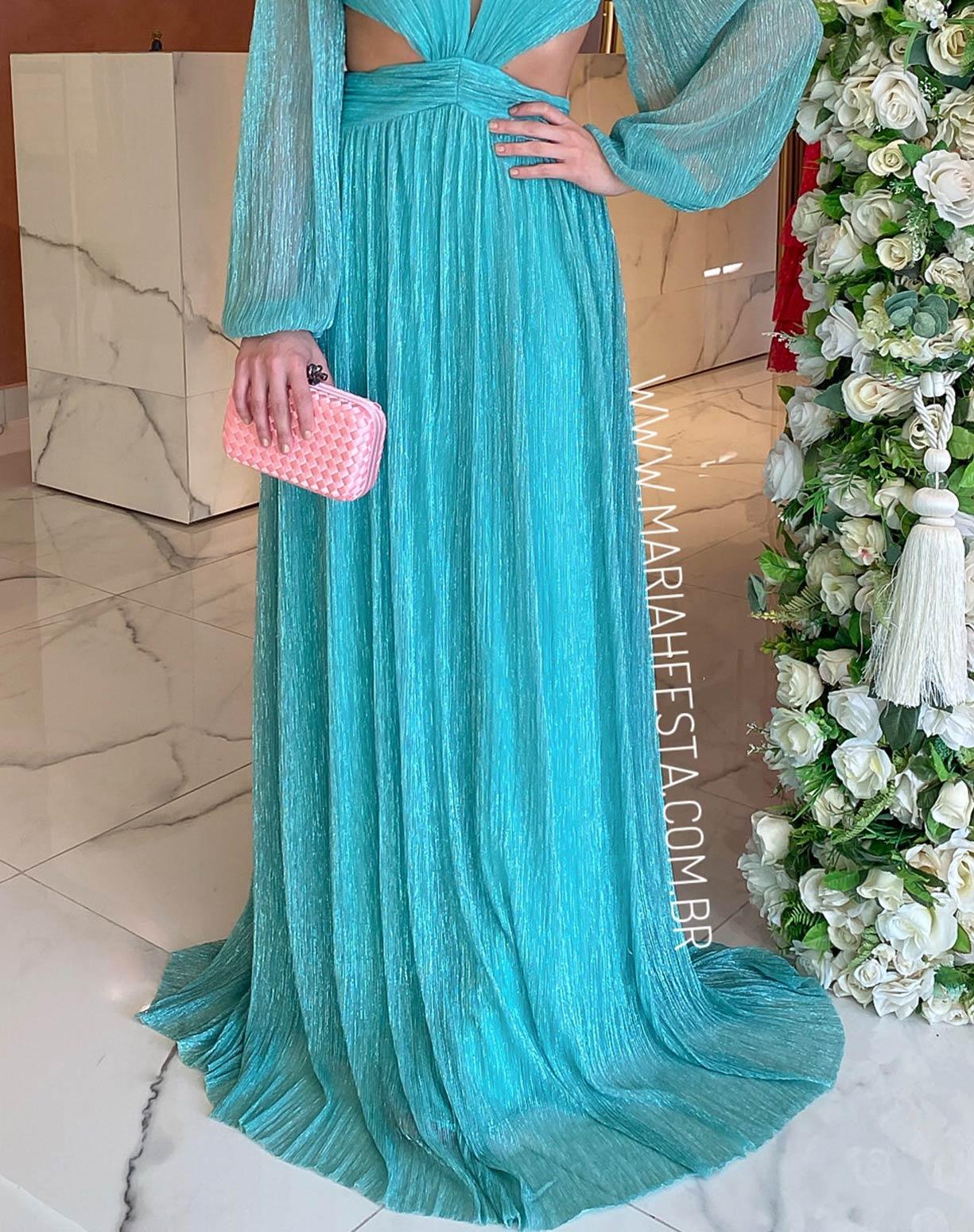 Vestido Tiffany em Tule de Lúrex