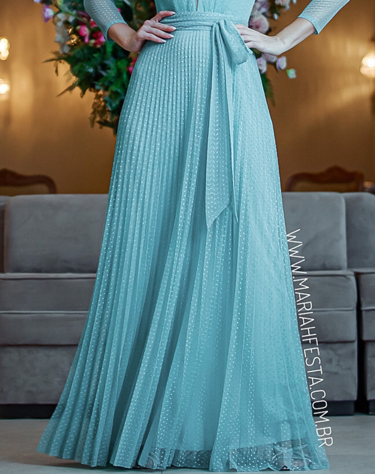 Vestido Tiffany em Tule Texturizado