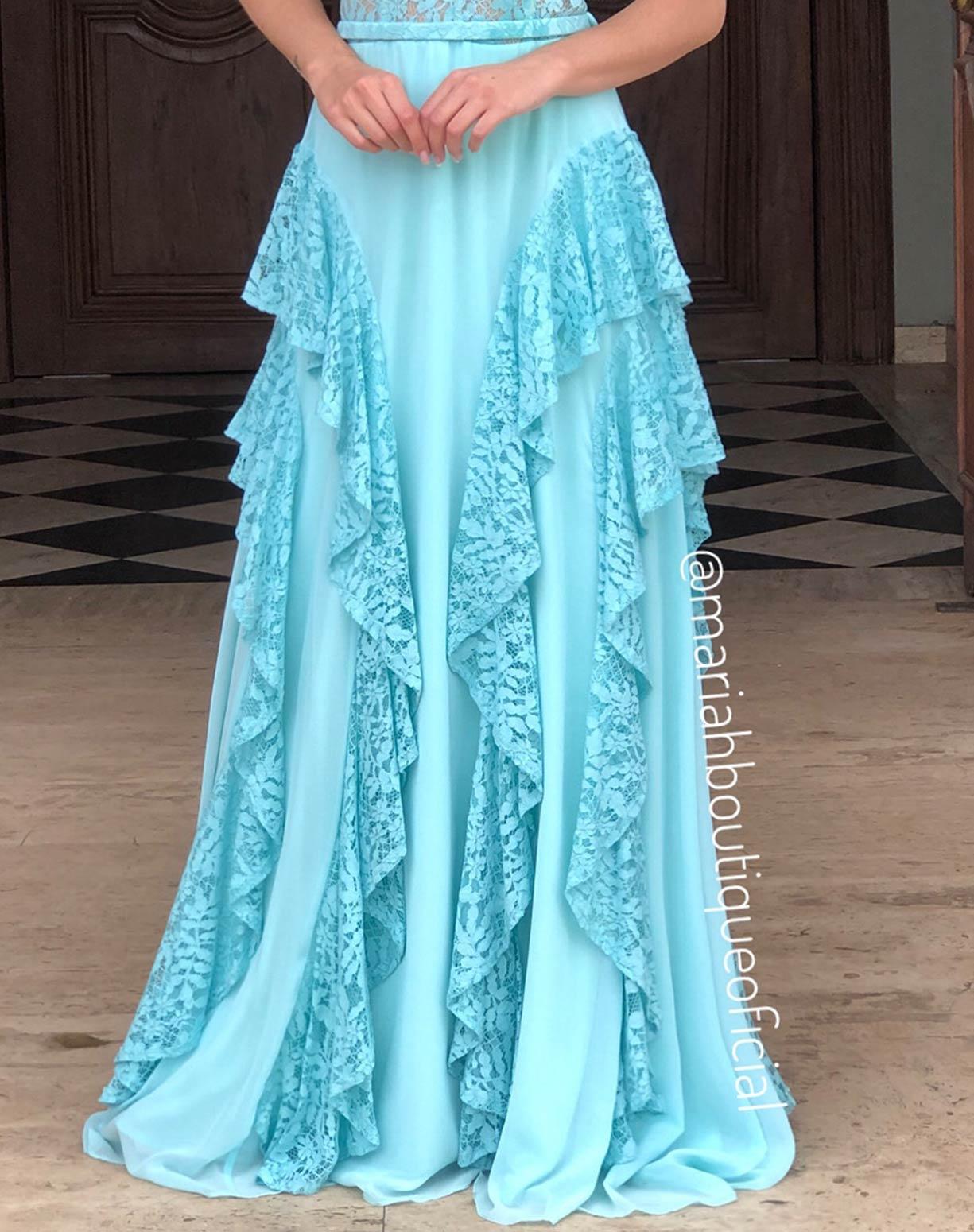 Vestido Tiffany Tomara que Caia em Renda