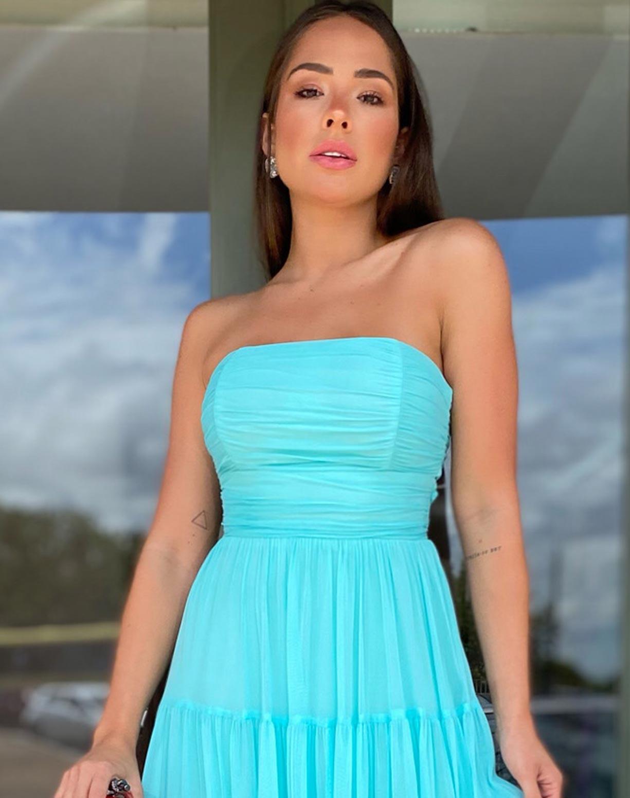 Vestido Tiffany Tomara que Caia em Tule