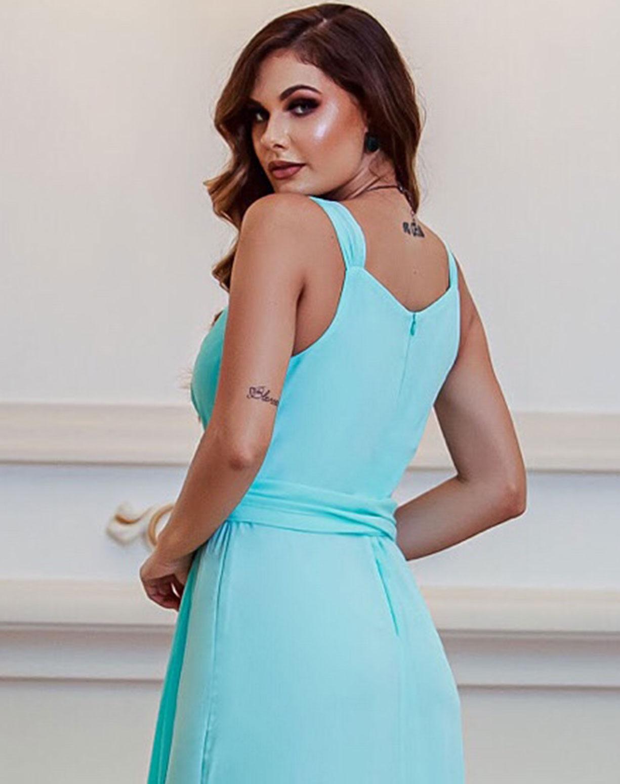 Vestido Tiffany Semi Sereia com Decote